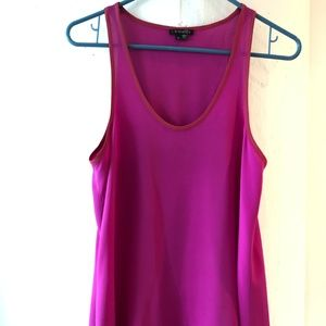 Theory silk hot pink sleeveless top